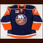 2008-09 Josh Bailey New York Islanders Game Worn Jersey – Rookie - NHL Debut - Photo Match – Team Letter