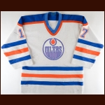1985-86 Jari Kurri Edmonton Oilers Game Worn Jersey - 68-Goal – 131-Point Season - 2nd Team NHL All Star - All Star Season - Photo Match - Video Match