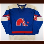 1973-74 Andre Gaudette WHA Quebec Nordiques Game Worn Jersey