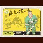 1968-69 OPC Bob Woytowich Minnesota North Stars Autographed Card – Deceased