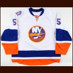 "2014-15 Johnny Boychuk New York Islanders Game Worn Jersey – ""Tradition On Ice"" - Photo Match – Team Letter"