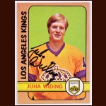 1972-73 Juha Widing Los Angeles Kings Card - Autographed - Deceased