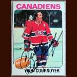 1975-76 Topps Yvan Cournoyer Autographed Card