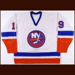 1983-84 Bryan Trottier New York Islanders Game Worn Jersey - Photo Match