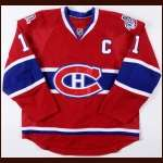 "2008-09 Saku Koivu Montreal Canadiens Game Worn Jersey - ""100-year Anniversay"" - ""2009 NHL All Star"" - Team Letter"