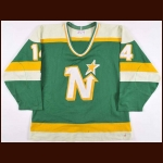 1986-87 Scott Bjugstad Minnesota North Stars Game Worn Jersey