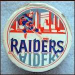 New York Raiders Souvenir Logo Puck