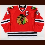2011-12 Jonathan Toews Chicago Blackhawks Game Worn Jersey - Photo Match