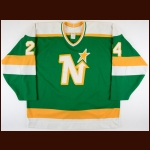 1987-88 Richard Zemlak Minnesota North Stars Game Worn Jersey