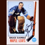 1969-70 Bruce Gamble Toronto Maple Leafs Autographed Card - Deceased