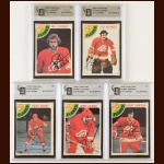 Lot of (5) 1978-79 OPC Atlanta Flames Autographed Cards – GAI Certified