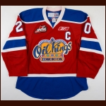 2009-10 Rhett Rachinski Edmonton Oil Kings Game Worn Jersey - Photo Match