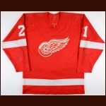 1986-87 Adam Oates Detroit Red Wings Game Worn Jersey - 2nd NHL Season - Photo Match