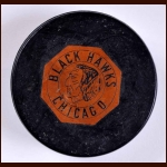 Chicago Black Hawks Original Six Game Used Logo Puck - Second Oldest Variation 1962-1964