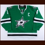 2015-16 Jamie Benn Dallas Stars Game Worn Jersey - Career Best 41-Goal Season - Photo Match – Team Letter