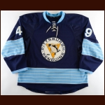 2012-13 Phillippe Dupuis Pittsburgh Penguins Game Issued Jersey – Alternate – Team Letter