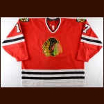 1994-95 Joe Murphy Chicago Blackhawks Game Worn Jersey - Photo Match