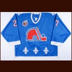 1992-93 Ron Hextall Quebec Nordiques Game Worn Jersey