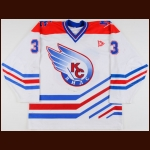 2000-01 Soviet Wings Game Worn Jersey – Player #33