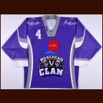 2010-11 Mathieu Wathier Braehead Clan Game Worn Jersey – Elite League Letter