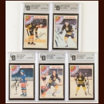 Lot of (5) 1978-79 OPC Boston Bruins Autographed Cards – GAI Certified