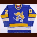 1974-75 Jack Carlson WHA Minnesota Fighting Saints Game Worn Jersey – Rookie – Jack Carlson Letter