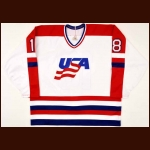 1988-89 Dave Snuggerud Team USA World Championships Game Worn Jersey