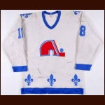 1981-82 Marian Stastny Quebec Nordiques Game Worn Jersy – Rookie