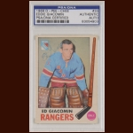 Ed Giacomin 1969 OPC - New York Rangers - Autographed - PSA/DNA