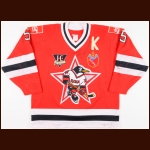 1993-94 Oleg Belov UCKA Central Red Army Russian Penguins Game Worn Jersey