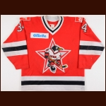 1994-95 Denis Pigolitsyn UCKA Central Red Army Russian Penguins Game Worn Jersey