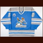 "1996-97 Neal Broten Phoenix Roadrunners Game Worn Jersey – ""20-year Anniversary"" - Miracle On Ice alum"