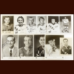 New York Rangers Autographed Group of (71) – Includes Hall of Famers and Deceased