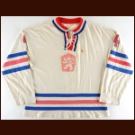 "1977 Oldrich Machac Team Czech World Championships – Gold Medal - IIHF HOF-99 - The Warren ""Butch"" Williams Collection – Butch Williams Letter"