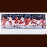 Detroit Red Wings Limited Edition Lithograph - Autographed By 7 Hall of Famers