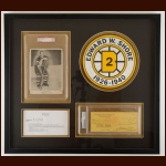 Eddie Shore Boston Bruins Autographed Matted & Framed Display – Deceased