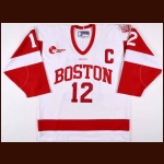 "2010-11 Chris Connolly Boston University Game Worn Jersey – ""Red Hot Hockey Madison Square Garden"""