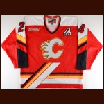 1999-00 Jason Wiemer Calgary Flames Game Worn Jersey