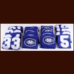 2012-13 Colby College Set of 27 Road Blue Game Worn Jerseys