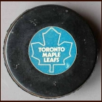 Toronto Maple Leafs Old Style Logo Puck