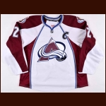 2013-14 Gabriel Landeskog Colorado Avalanche Game Worn Jersey - Photo Match – Team Letter