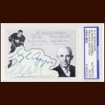 Syl Apps & Clarence Campbell Autographed Card - The Broderick Collection - Deceased
