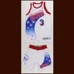 1994-95 Dana Barros Philadelphia 76ers Game Worn Jersey & Shorts