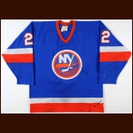 1981-82 Mike Bossy New York Islanders Game Worn Jersey - 1st Team NHL All Star - Conn Smythe - 64-Goal Season - Career Best 83-Assist & 147-Point Season - Stanley Cup Season - Photo Match