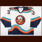 1996-98 Ken Belanger New York Islanders Game Worn Jersey – Team Letter