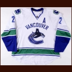 2008-09 Mattias Ohlund Vancouver Canucks Game Worn Jersey  - Last Canucks Gamer – Photo Match