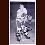 Pit Martin Chicago Black Hawks Autographed Postcard - Deceased