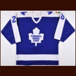 "1986-87 Kevin Maguire, Val James & Derek Laxdal Toronto Maple Leafs Game Worn Jersey – ""King Clancy'"" - Video Match"