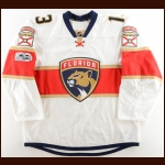 2016-17 Mark Pysyk Florida Panthers Game Worn Jersey – Photo Match – Team Letter
