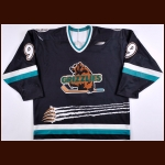 Late 1990's Utah Grizzlies Game Worn Jersey – Player #9